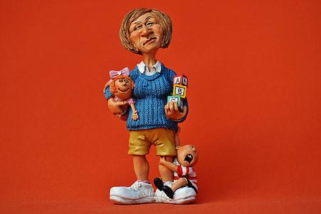 baby-sitter, children educator, nanny, kindergarten teacher, building blocks, play, child