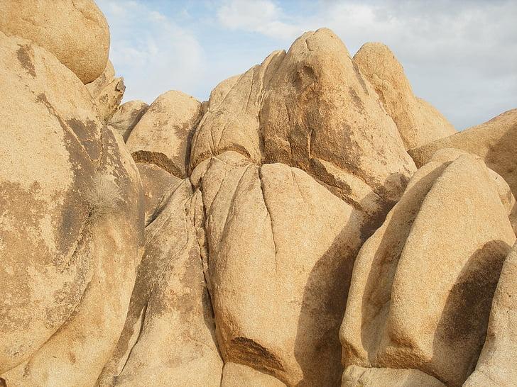 blocs rocheux, pierres, roches, Parc national de Joshua tree, moja, désert des Mojaves, paysage