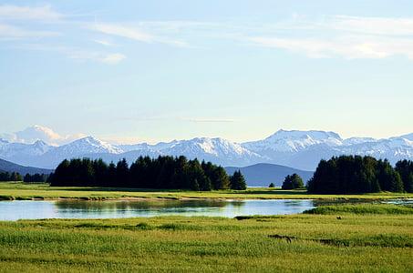 Alaska, muntanyes Chilkat, muntanyes chilkot, paisatge d'Alaska, muntanyes, mar i muntanya, mar i muntanya