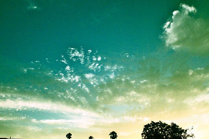 sky, open sky, blue sky, dusk, magic hour, twilight, magical