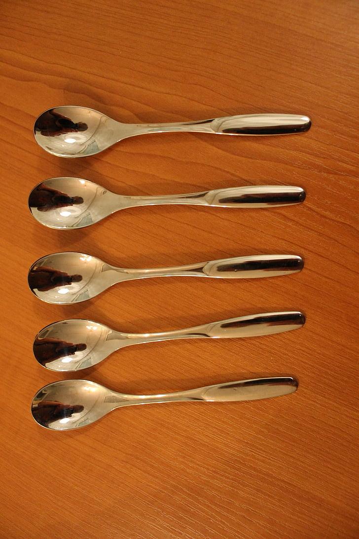 cuchara de, el plato, diseño