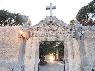 ingång, mål, tillgång, Portal, kloster cura, Cura, Algaida