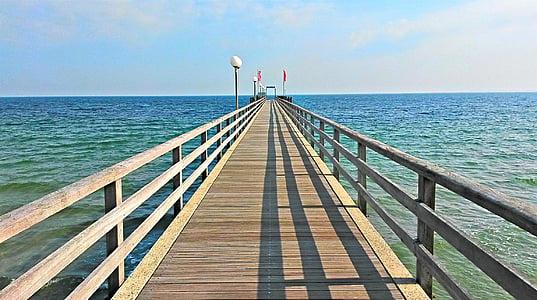 Haffkrug, Puente del mar, Mar Bàltic, platja del mar Bàltic, web, Pont, l'aigua