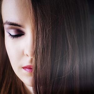 muotokuva, Tyttö, huulet, photoshoot, silmät, Kauneus, henkilö