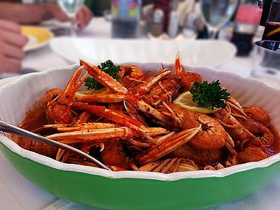 Scampi, pārtika, Foodie, jūras veltes, garneles, ēdiena gatavošanai, ēdiens