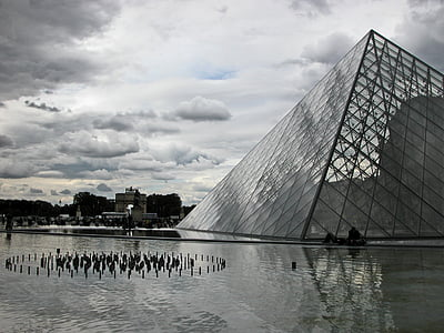 Pariis, Louvre, püramiid, arhitektuur, atmosfäär, Prantsusmaa, muuseum