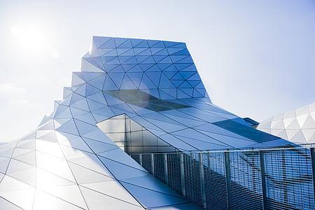 arhitektuur, hoone, disain, futuristliku, klaas