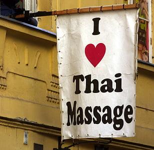 annonce, massage, turister, hjerte, thai, tegn