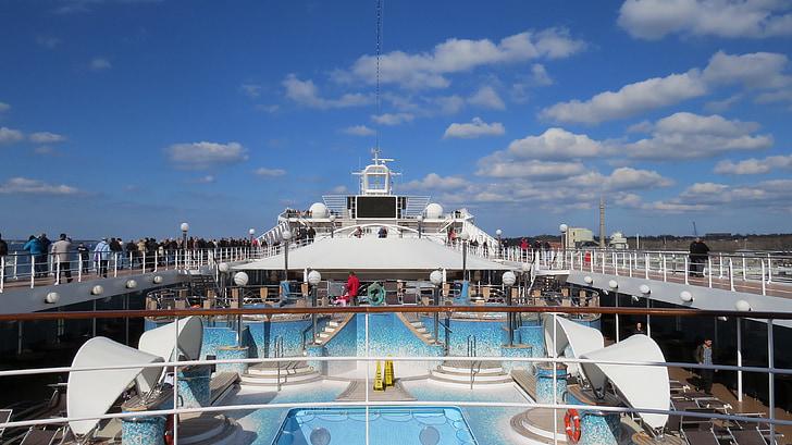 kryssning, fartyg, Cuxhaven, kryssningsfartyg