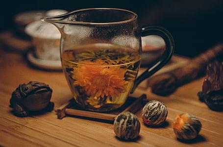 aromatični, napitak, piće, figurica, hrana, staklo, vruće
