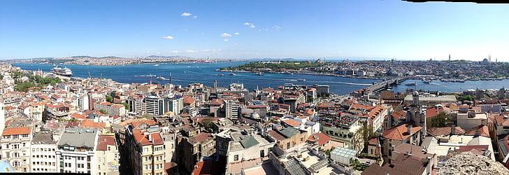 Istanbul, Panorama, Bosphorus, Türgi