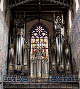 arquitectura, l'església, Basílica, òrgan, xiulet de l'òrgan, finestra, Sacre