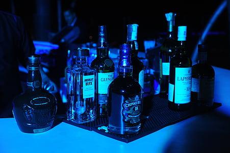 alkoholi, pool, viski, Baar, jook, kokteil, öö