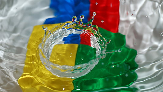bodegons, gotetes d'aigua, capturar gotetes d'aigua, vermell, Bandera, close-up, no hi ha persones