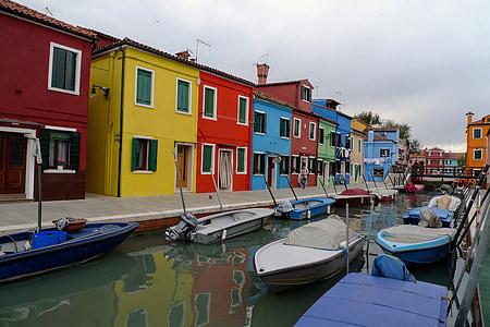 burano, เวนิส, ลากูน, บ้านที่มีสีสัน, อิตาลี, windows, ช่อง
