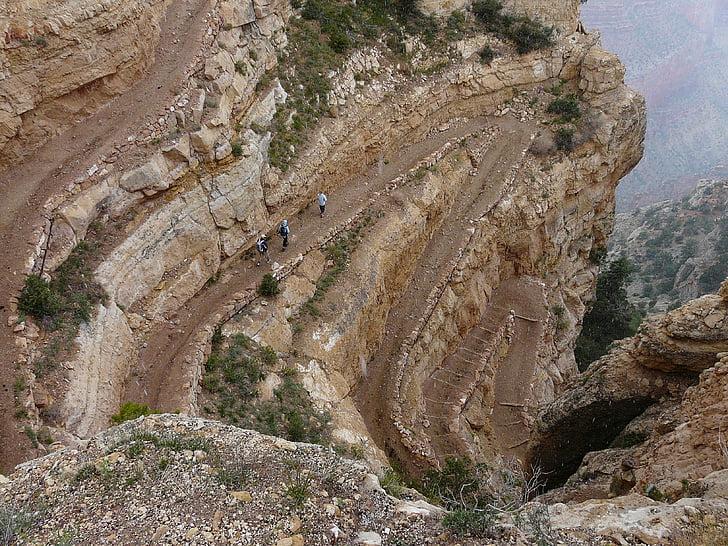 Гранд каньон, пътека, миграционния път, спускане, път, далеч, път