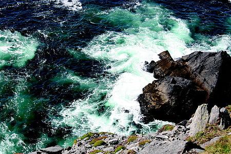 Atlàntic, penya-segats, navegar per, Mar, Regne Unit, Kerry, ona