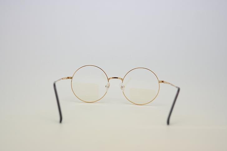 ulleres, teràpia xamba-Àngel, gots de vidre, d'or, trencat