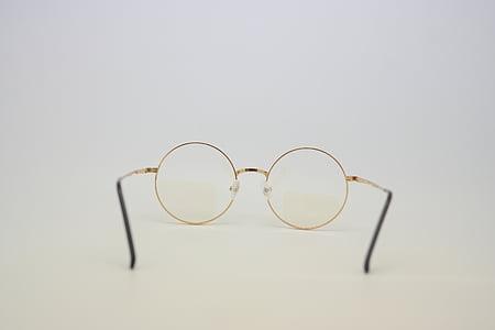 occhiali, terapia di Fluke-Angelo, bicchieri in vetro, d'oro, rotto