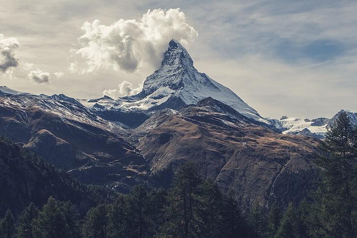 matterhorn, mountain, alps, switzerland, high, peak, top