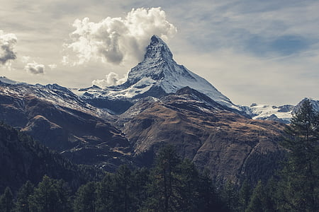 Matterhorn, mägi, Alpid, Šveits, kõrge, Peak, Top