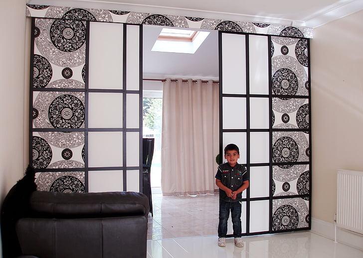 kamer, room divider, jaloezieën, interieur, ontwerp, Home, scheidingslijn