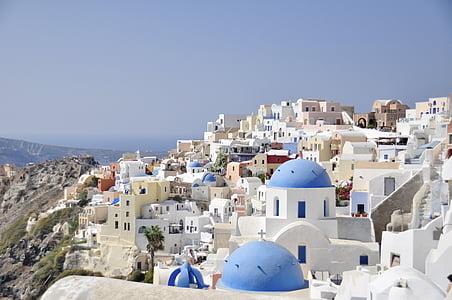 Santorini, Prikaz, Grčki otok, Grčka, plava