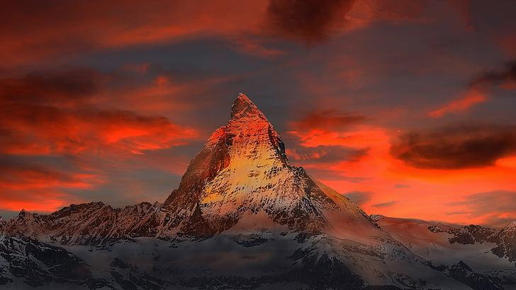 Suïssa, Zermatt, muntanyes, neu, Matterhorn, alpí, Gornergrat
