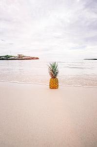 Bãi biển, bờ biển, trái cây, Đại dương, dứa, Cát, tôi à?