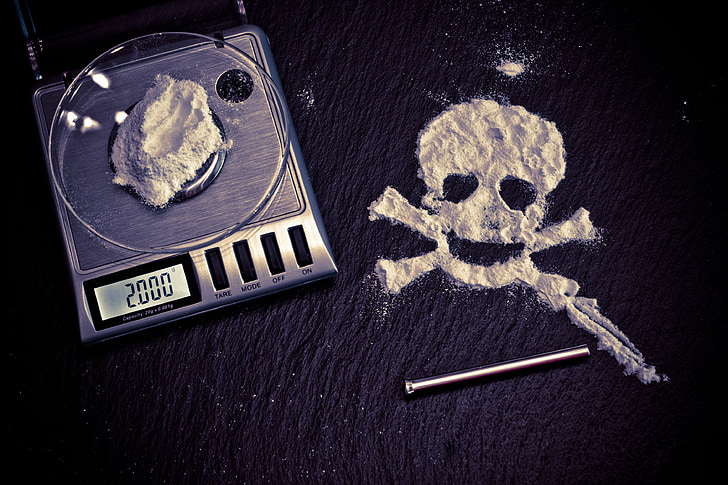 drugs, dood, cocaïne, drug, risico, misbruik, verboden