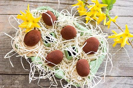 Великдень, Дік Адвокат, шоколадні цукерки, шоколад, цукерки, клювання, праліне Шоколадні