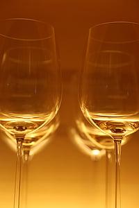 ulleres, copes de vi, beguda, vidre, Restaurant, begudes alcohòliques, còctel
