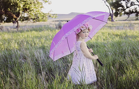 summer, umbrella, sunny, outdoor, girl, vintage, women