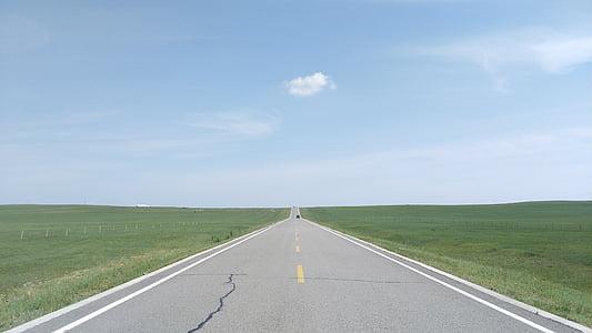 εθνικής οδού, Λιβάδι, keshiketengqi, Εσωτερική Μογγολία, ατελείωτες