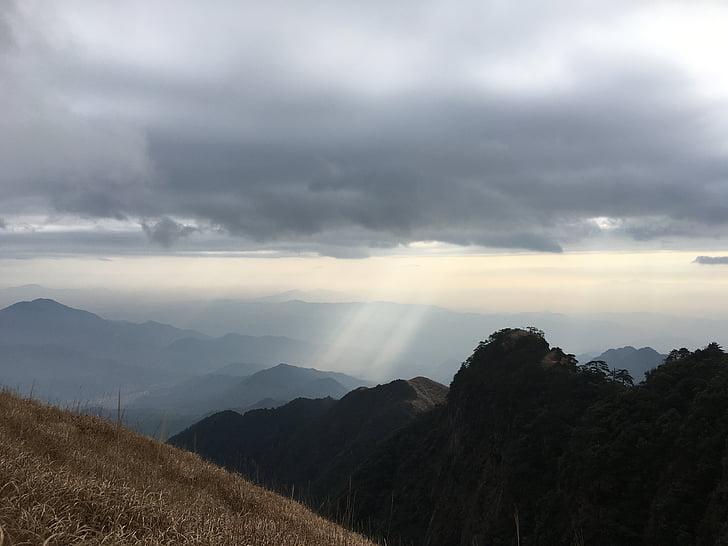 wugongshan, manzara resim, gündoğumu