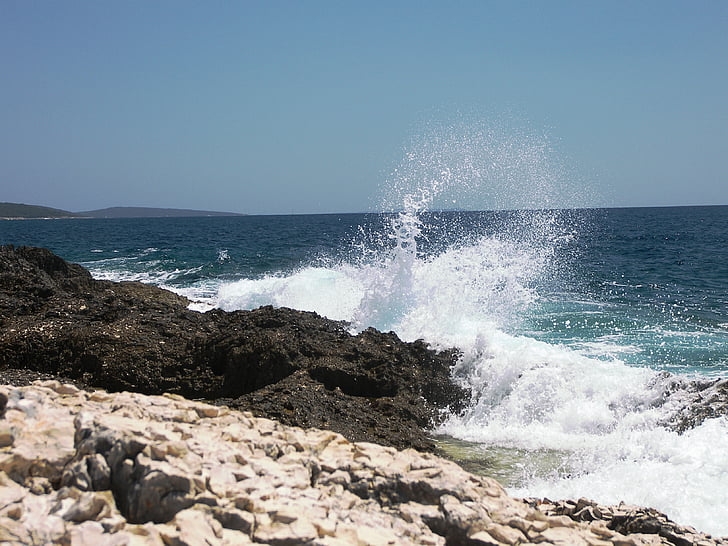 bakgrunn, bakgrunn, Lake, stranden, Kroatia, steinete, skum