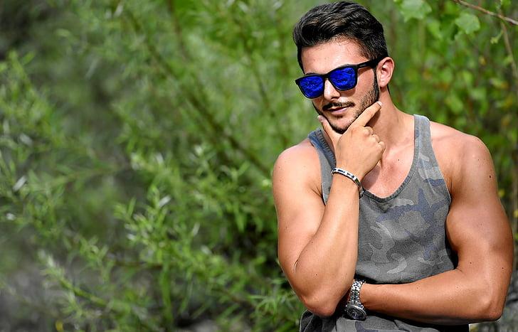 sensolatino, man, boy, sunglasses, aviator, outdoors, one person