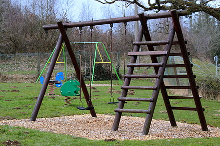 children's playground, swing, head, playground, play, game device, play outside