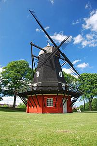 denmark, copenhagen, mill, europe, danish, summer