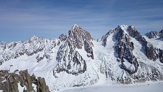 сніг, Гора, взимку, Природа, краєвид, небо, подорожі