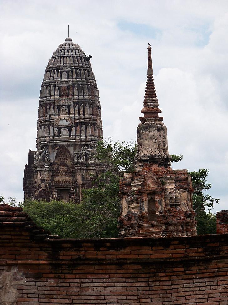 거룩한, 거룩한 도시, 아유타야, 멸망, 태국, 믿음, 불교