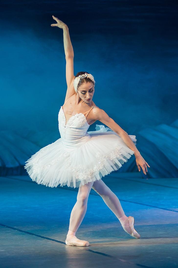 Балерина, Лебединое озеро, производительность, танцовщица, балет, элегантный, баланс