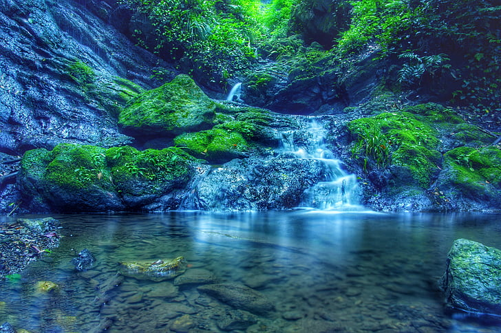 Japão, Cachoeira, paisagem, Modos de exibição, água, natural, floresta