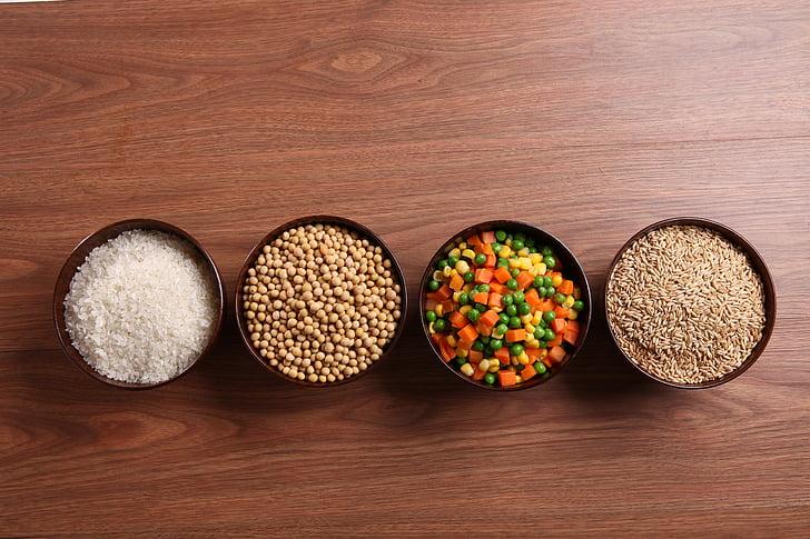 цели зърна, Кетъринг съставки, метър, овес, соя, храна и напитки, храна