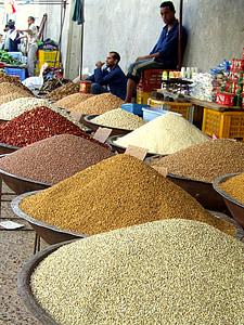 gia vị, thị trường, bán, cà ri, phương đông, Tunisia