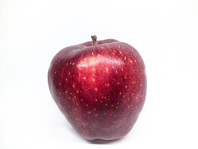puu, Apple, punane õun, valgel taustal, valge, punane, võimsus