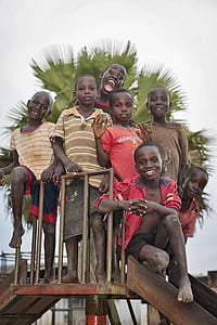 children, african, black, happy, young, smile, together