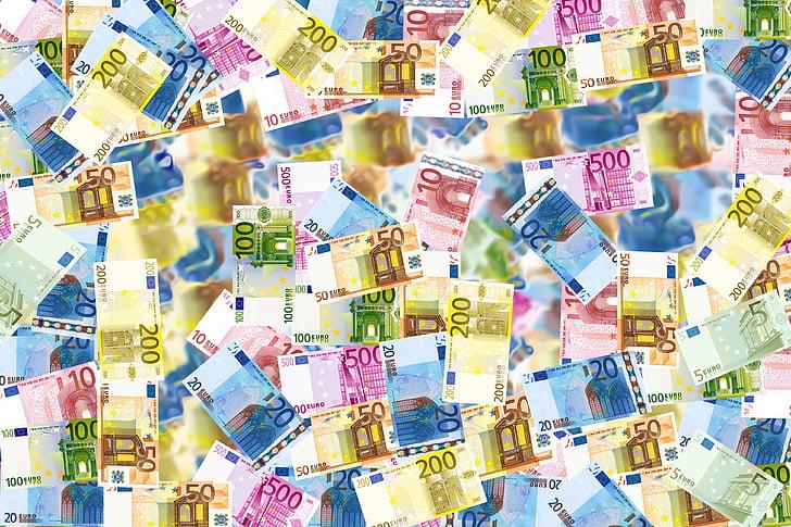 laskut, rahaa, Euro, tausta, Wealth, rikas