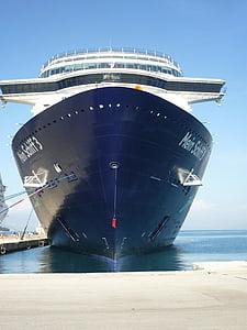 fartyg, havet, kryssning, drivande kryssningsfartyg, vatten