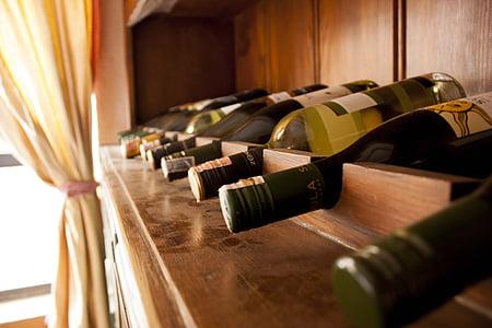 ampolles de vi, vi, ampolles, ampolla, Copa de vi, vins, begudes